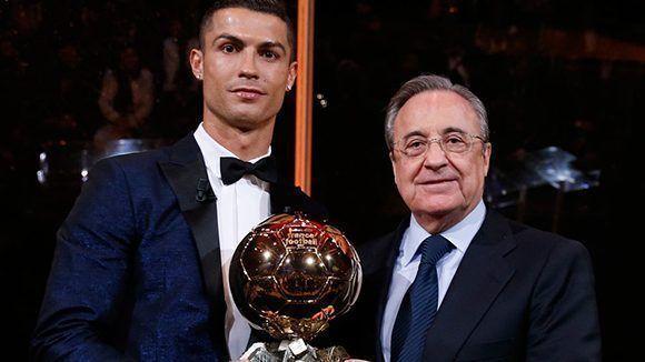 El presidente del Real Madrid junto a su máxima estrella. Foto: Real Madrid.
