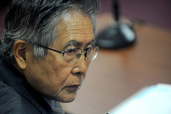 Alberto Fujimori durante un juicio en 2009. Foto: AFP.