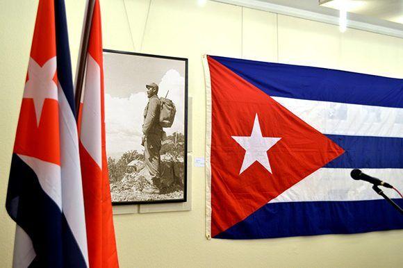 Homenaje a Fidel en Viena, Austria. Foto: Embacuba Austria.
