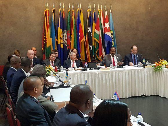 Apertura de la VI Cumbre CARICOM-Cuba. Foto: @EmbacubaAntigua