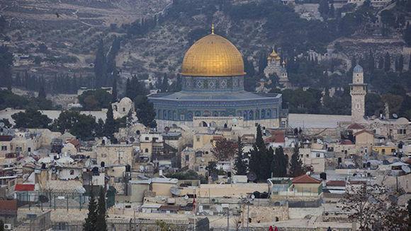 Una vista de la ciudad vieja de Jerusalén, este lunes. Foto: AP.