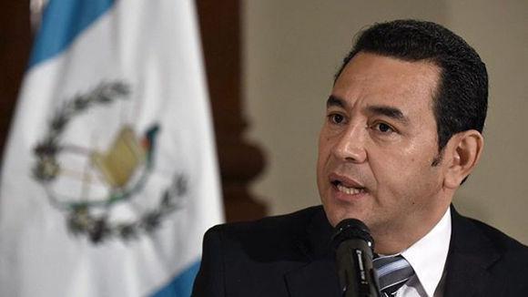 El presidente de Guatemala, Jimmy Morales. Foto: AFP.