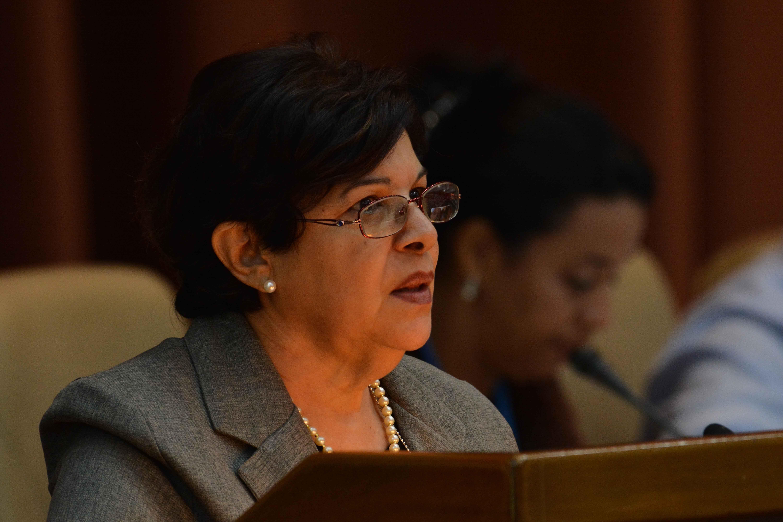Lina Pedraza, titular del Ministerio de Finanzas y Precios. Foto: Marcelino Vázquez/ ACN.