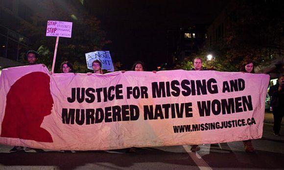 Manifestación por las mujeres desaparecidas en Canadá. Foto: Oscar Aguirre/ Demotix.