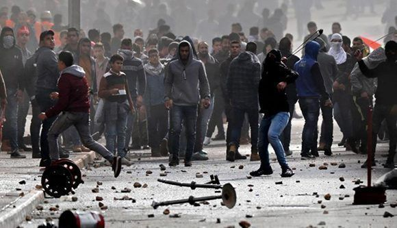 Día de furia palestina por decisión de Donald Trump. Foto:AFP.