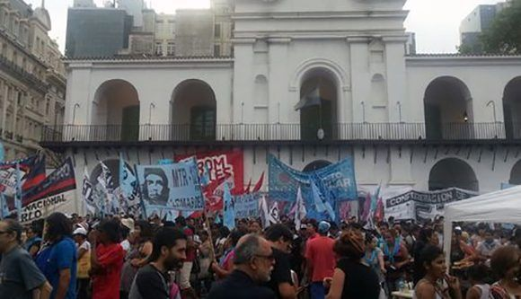 """Marcha de la Resistencia"", en apoyo a la expresidenta Cristina Fernández de Kirchner. Foto: ANSA."