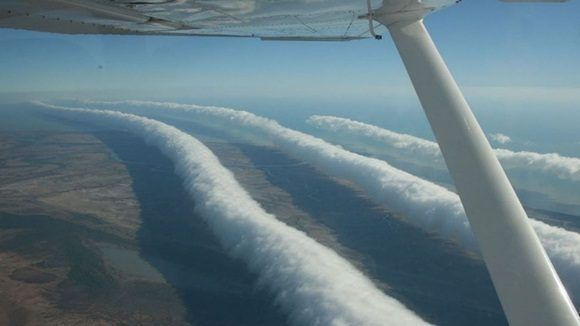 "Las nubes ""Morning Glory"" en Australia."