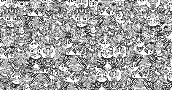 ¿Eres capaz de encontrar a la niña que está escondida entre tantos búhos?