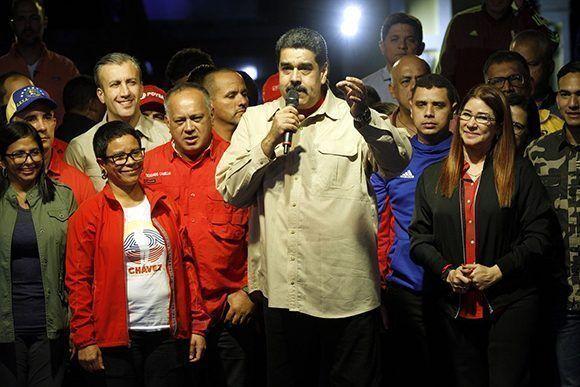 Nicolás Maduro habla al pueblo venezolano luego de las elecciones municipales. Foto: Prensa Miraflores.