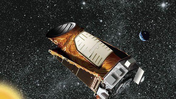 Representación artística del telescopio Kepler.