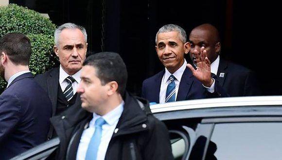 Obama en París, este 2 de diciembre. Foto: AFP