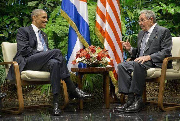 Raúl Castro recibió a Barack Obama en marzo de 2015. Foto: AP.