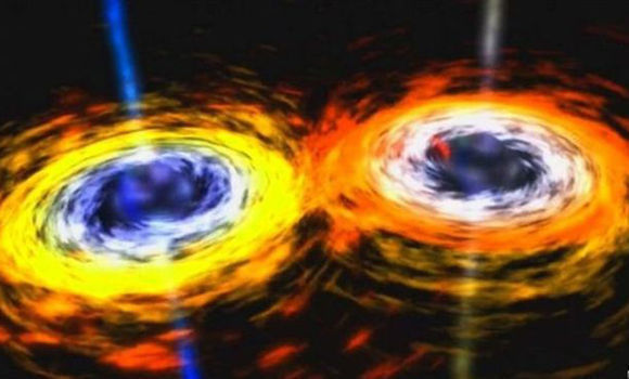 Ondas gravitacionales. Foto: NASA
