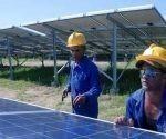 Se construye primer parque solar fotovoltaico en Sancti Spíritus. Foto: ACN.