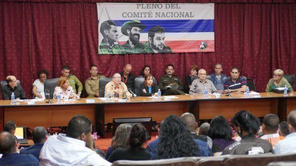 VI Pleno del Comité Nacional de la Unión de Jóvenes Comunistas. Foto: ACN.