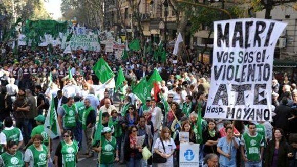 La ATE rechaza los más de 520 despidos en la administración pública. | Foto: Prensa ATE nacional.