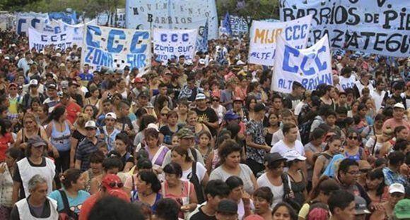 Recientes protestas en Argentina.