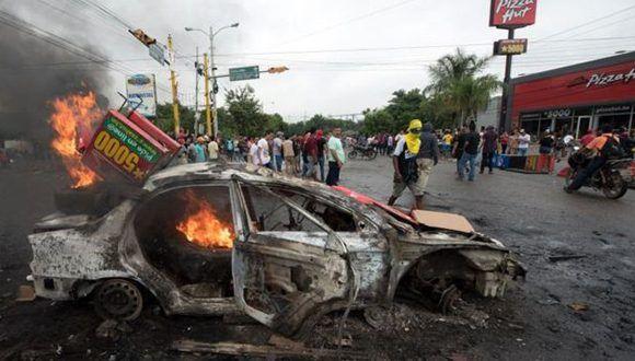 Ciudades como Tegucigalpa y San Pedro Sula fueron escenarios de escenas violentas. Foto: Getty Images
