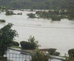 Imagen del río Sagua de Tánamo fuera de su cauce. Foto: ACN
