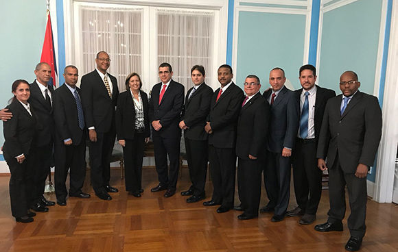El 11 de diciembre de 2017, se celebró en Washington una nueva ronda de conversaciones migratorias entre delegaciones de Cuba y los Estados Unidos. Foto: Cubaminrex.