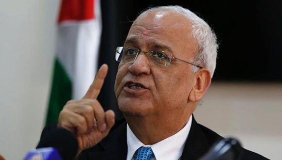 El Secretario general de la Organización para la Liberación de Palestina (OLP), Saeb Erekat. Foto: HispanTv