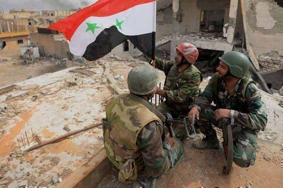 Ejército sirio tras la victoria. Foto: PL.