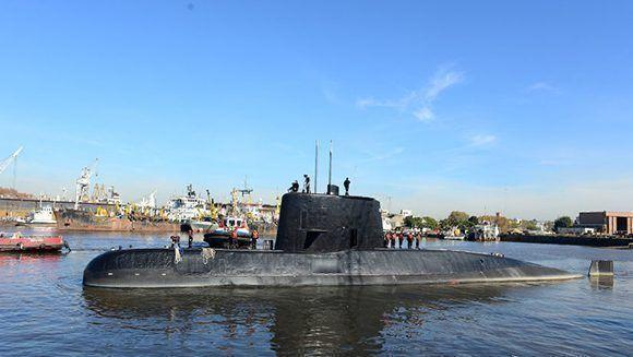 El submarino ARA San Juan en el puerto de Buenos Aires, el 2 de junio de 2014. Foto: Reuters.