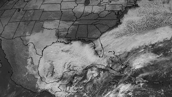 Imagen del satélite GOES-16 de la NOAA, 11:27 a.m., 2 de enero.