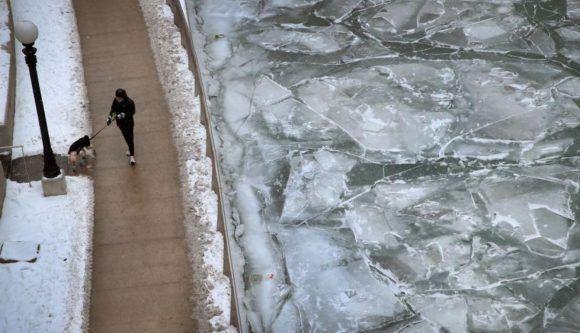 Ciclón bomba, Chicago. Foto: AFP.