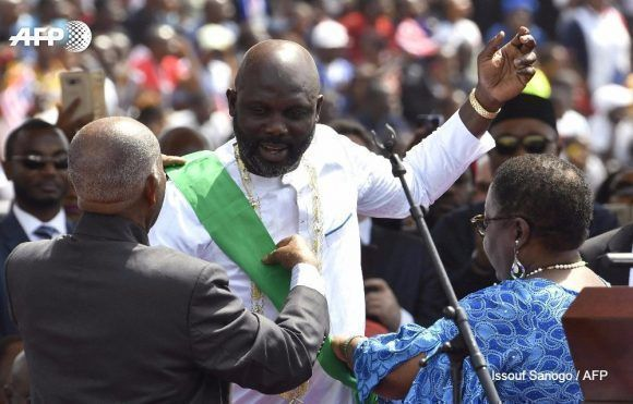 El Balón de Oro, George Weah es investido presidente de Liberia