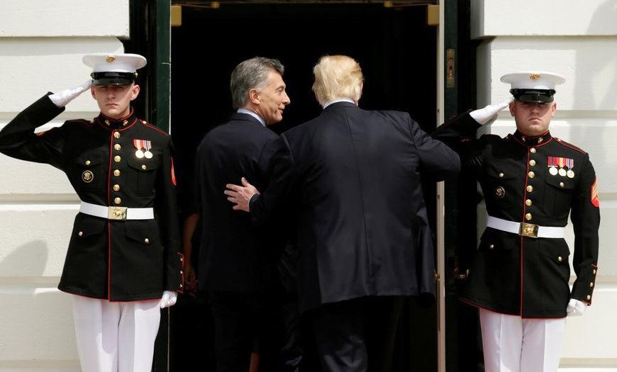 Donal Trump y Mauricio Macri. Foto: Reuters
