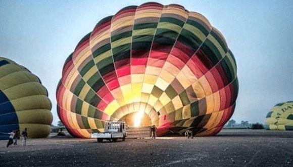 Accidente de globo en Luxor