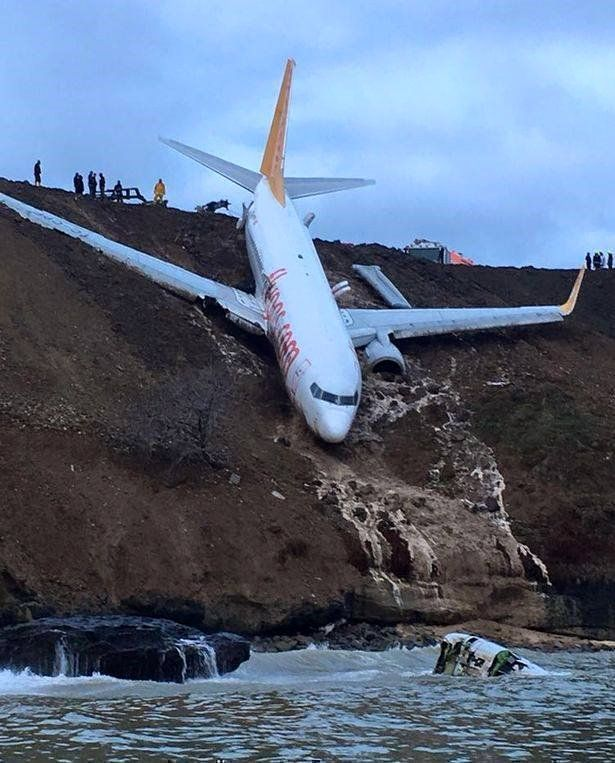 Avi n en turqu a se sale de la pista y casi cae al mar video cubadebate - Que peut on emmener en avion ...
