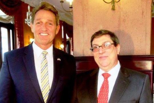 Dialogan Canciller cubano y senador republicano de EE.UU.