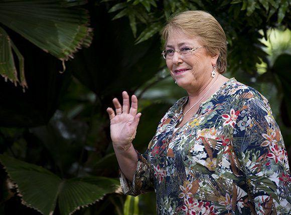 Michelle Bachelet, presidenta de Chile. Foto: Irene Pérez/ Cubadebate.