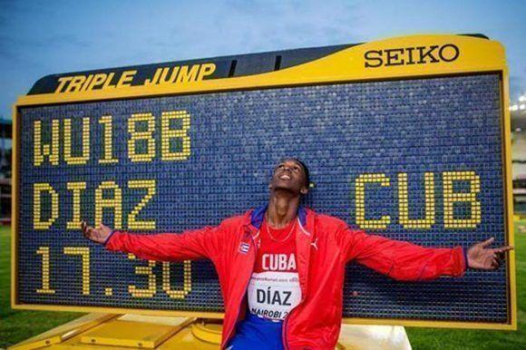 Jordan Díaz impresionó en Nairobi con su récord mundial en triple salto