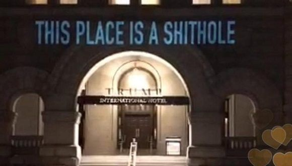 Así convierten un hotel de Trump en un 'agujero de mierda — Vídeo