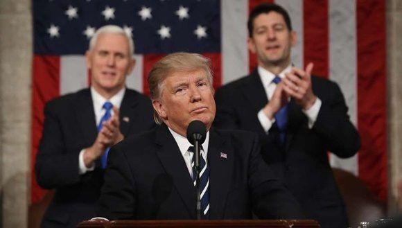 Trump arremete contra Cuba y Venezuela durante su primer discurso sobre el Estado de la Unión