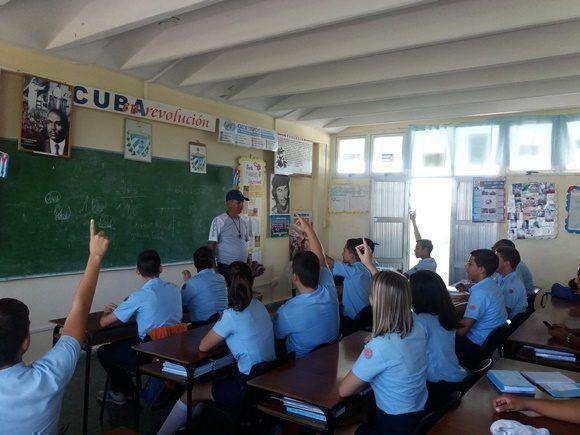 El IPVCE Carlos Marx trabaja cada curso en la formación vocacional de sus estudiantes. Foto Andy Jorge Blanco