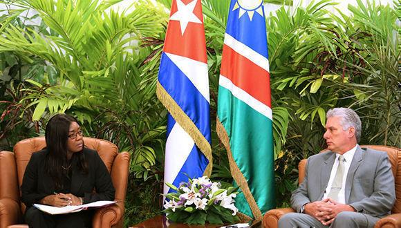 Recibió Díaz-Canel a Primera Ministra de la República de Namibia