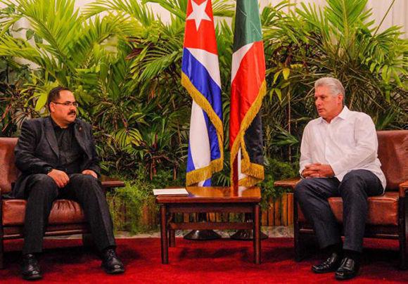Primer vicepresidente cubano recibió al dirigente palestino