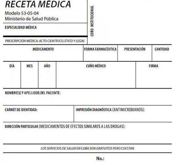 Desde hoy se extiende uso de nuevo modelo de receta médica en toda Cuba