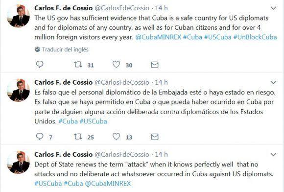 Diplomáticos cubanos expresaron su rechazo a la decisión del Departamento de Estado estadounidense de mantener permanentemente la reducción del personal de su embajada en La Habana.
