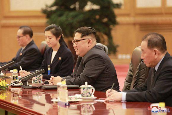 Kim Jong-Un en China. Foto: KCNA.