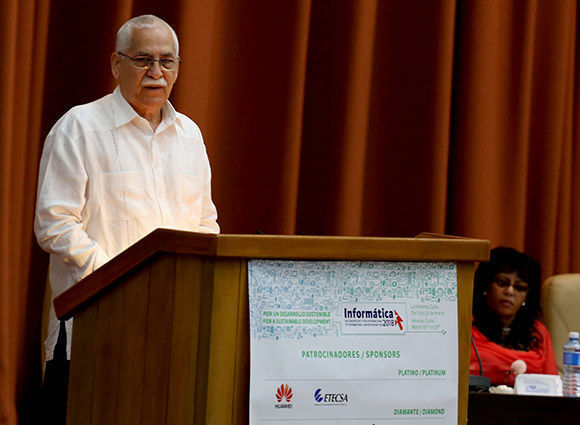 Maimir Mesa Ramo, Ministro de las Comunicaciones de Cuba. Ismael Francisco/Cubadebate.