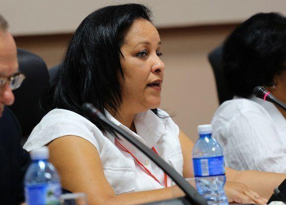 Mayra Arevich, presidenta ejecutiva de ETECSA durante Informática-2018. Foto: Ismael Francisco/ Cubadebate.