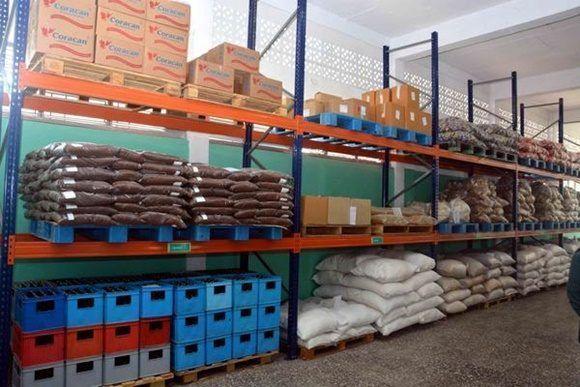 Área de almacenes del primer Mercado Mayorista de Alimentos, perteneciente al Grupo de Empresas Mayorista de Alimentos y Otros Bienes de Consumo (OSDE-GA)