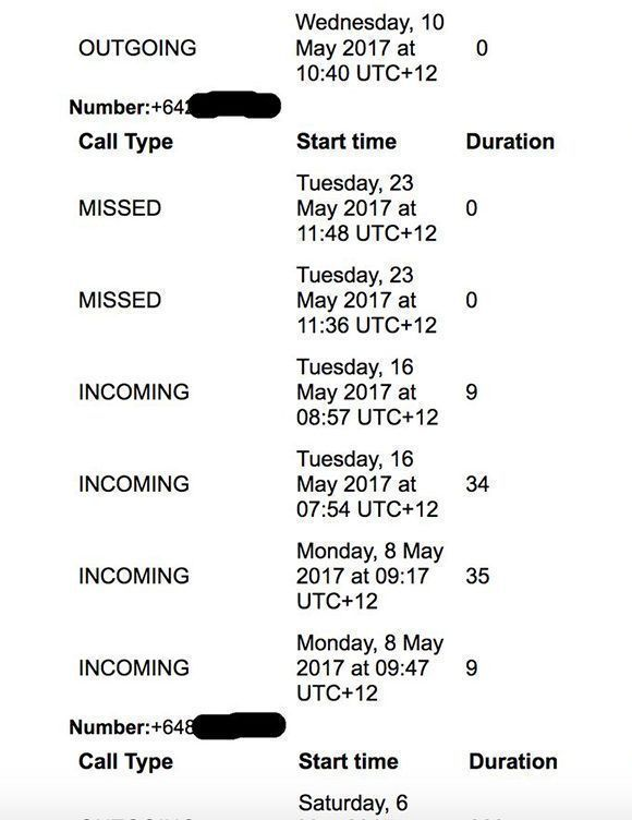 Es posible descargar nuestro datos en Facebook y nos llevaremos una sorpresa como esta: Facebook almacena todo el historial de nuestras llamadas por el teléfono movil. Imagen: @dylanmckaynz/ Twitter.