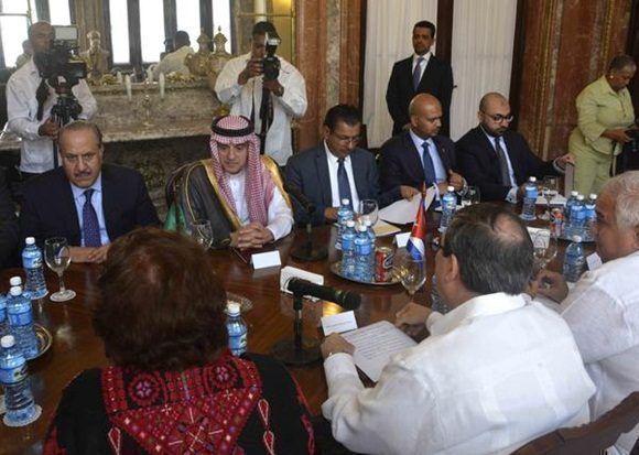 Vicepresidente cubano recibe a canciller saudita