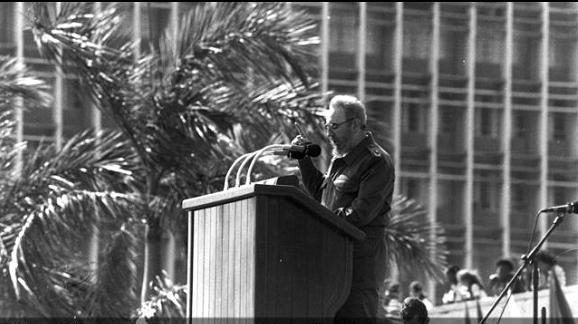 Fidel Castro en el acto de conmemoración del Día Internacional de los Trabajadores, 1ro de mayo de 2000. Foto: Editora Política / Sitio Fidel Soldado de las Ideas